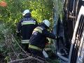 Pri nehode v Česku sa zranilo 14 ľudí: Autobus zišiel z cesty priamo do stromu