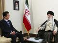 Alí Chameneí a Šinzó Abe