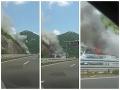 Dráma na chorvátskej diaľnici: VIDEO Deti cestovali na futbalový turnaj, ich autobus zhorel do tla