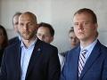 Lídri strán Progresívne Slovensko a Spolu