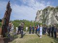 Prezidentka Čaputová pri pamätníku Brána slobody