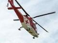 Leteckí záchranári v plnom nasadení: Pomoc potreboval zranený robotník na stavbe diaľnice