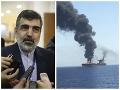 Behrúz Kamálvandí a napadnutý tanker v Ománskom zálive.
