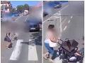 Hasiči zverejnili šokujúce VIDEO Chodci vrátane ženy s kočíkom nemali štipky zodpovednosti!