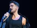 Spevák Peter Andre počas koncertu