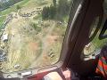 Pohľad z vrtuľníka na miesto, kde došlo k nešťastiu.