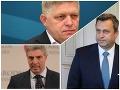 Robert Fico, Andrej Danko a Béla Bugár