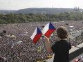 Najväčší protest za posledných 30 rokov: FOTO Štvrť milióna ľudí obsadilo Letnú, chcú odchod Babiša