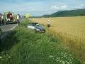 Smrteľná nehoda v Nitrici: FOTO Auto sa zrazilo s kamiónom, jeden mŕtvy a dvaja zranení