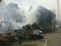 Hasiči bojovali štyri hodiny s požiarom v Ždiari: FOTO Horel rodinný dom