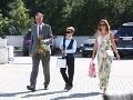 Na svadbu prišiel aj Daniel Krajcer s expartnerkou Helenou Hupkovou a spoločným synom.