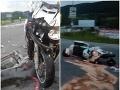 FOTO škaredej zrážky na Horehroní: Vodič dodávky nedal prednosť motocyklistovi
