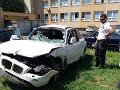 Auto, v ktorom sa viezla Ivanna, jej manažér a mama skončilo v dezolátnom stave.
