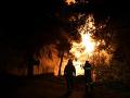 Lesné požiare ničia Grécky ostrov Eubója: Evakuovať museli už štyri dediny