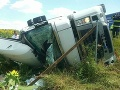 PRÁVE TERAZ Nehoda kamióna na R1 v smere na Trnavu: FOTO Tvorí sa kolóna