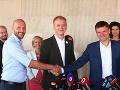 VIDEO Oficiálny zrod novej predvolebnej spolupráce: Dohoda Progresívcov, Spolu a KDH je na stole