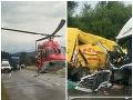 PRÁVE TERAZ Zrážka áut na Orave si vyžiadala troch zranených: FOTO Cesta je uzatvorená