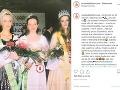 Zuzana Belohorcová na fotke spred 22 rokov. Vtedy sa zúčastnila súťaže krásy Princezná Žilinského kraja.