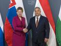 Orbán nešetrí obdivom: Čaputová si ctí Maďarov i Vyšehradskú štvorku, čo je chvályhodné