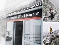 Šokujúce VIDEO z Lomnického štítu: Tatry v júli bičujú snehové prehánky, ľudia môžu stavať snehuliakov
