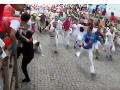 Oslavovali sviatok svätého Fermína: VIDEO Počas posledného behu nabral býk troch ľudí