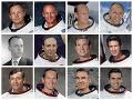 Na kombinovanej snímke NASA je dvanásť amerických astronautov, ktorí v rámci programu Apollo pristáli na Mesiaci. Zľava horný rad - Neil Armstrong, Edwin