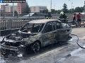 Požiar vozidla na Moste Lafranconi.