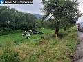 Tragická dopravná nehoda v okrese Rožňava: Mladý vodič dostal šmyk, zomreli dvaja ľudia