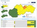 Pre okresy Kežmarok a Poprad už platia výstrahy 2. stupňa pred búrkami.
