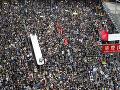 Gigantické protesty v Hongkongu neutíchajú: Rozširujú sa aj do ďalších častí mesta