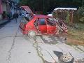 FOTO V Dobšinej havarovalo auto s mladíkmi: Marek (†18) podľahol zraneniam na mieste