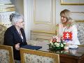 Predsedníčka Najvyššieho súdu SR Daniela Švecová a prezidentka SR Zuzana Čaputová