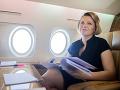 Zuzana Čaputová počas letu do Paríža