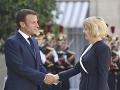 Emmanuel Macron a Zuzana Čaputová