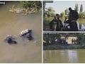 PRÁVE TERAZ Rieku Nitra prehľadávajú policajní potápači, pátrajú po zbraniach