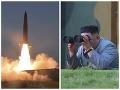 Nepoučiteľná Severná Kórea naďalej provokuje: FOTO odpálenia rakiet, na všetko dohliadal Kim