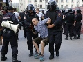 V Moskve protestovali proti zatýkaniu opozície: FOTO Zadržali vyše tisíc ľudí