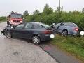 FOTO Pri nehode v okrese Michalovce sa zranilo šesť ľudí, medzi nimi aj deti