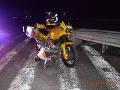 Hrozivá nehoda na D1: FOTO Motorkár sa zrazil s osobným autom, bol pod vplyvom alkoholu