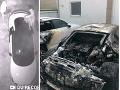 Audi zhorelo do tla.