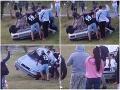 Dráma na Domaši: Opitý východniar autom ohrozoval návštevníkov, VIDEO krutá pomsta