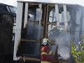 FOTO Veľký požiar v Bratislave: Horeli maringotky v Novom Meste