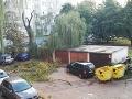 Situácia po búrke v Galante