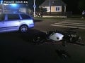 Hrozivo vyzerajúca nehoda v Bracovciach: FOTO Mladý vodič nedal prednosť, zrazil sa s motocyklistom
