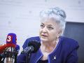 Predsedníčka Najvyššieho súdu SR Daniela Švecová počas tlačovej konferencie v budove NS SR.