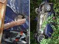 Nezvratný osud pri Trenčíne: FOTO Martinovo (33) auto prepichla kovová tyč, stačili centimetre a...
