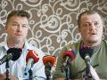 Lídri Iniciatívy poľnohospodárov František Oravec a Patrik Magdoško
