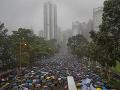 FOTO Demonštrácie v Hongkongu: Desaťtisíce protestujúcich obsadili park, trvajú na svojich požiadavkách
