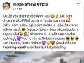 Mirka Partlová oznámila verejne, že je v požehnanom stave.