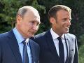 Vladimir Putin a Emmanuel Macron